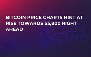 Bitcoin Price Charts Hint at Rise Towards $5,800 Right Ahead