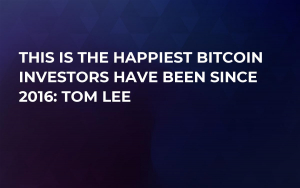 This Is the Happiest Bitcoin Investors Have Been Since 2016: Tom Lee