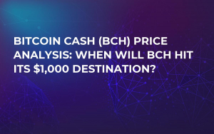 Bitcoin Cash (BCH) Price Analysis: When Will BCH Hit Its $1,000 Destination?