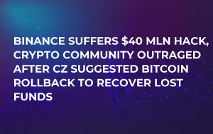 Binance Suffers $40 Mln Hack, Crypto Community Outraged After CZ Suggested Bitcoin Rollback to Recover Lost Funds