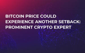 Bitcoin Price Could Experience Another Setback: Prominent Crypto Expert