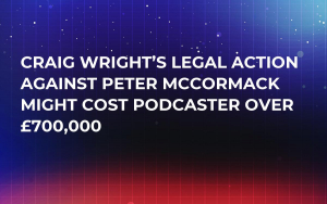 Craig Wright's Legal Action Against Peter McCormack Might Cost Podcaster over £700,000