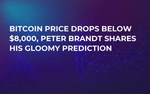Bitcoin Price Drops Below $8,000, Peter Brandt Shares His Gloomy Prediction