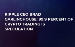Ripple CEO Brad Garlinghouse: 99.9 Percent of Crypto Trading Is Speculation