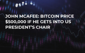 John McAfee: Bitcoin Price $500,000 if He Gets into US President's Chair