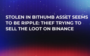 Stolen in Bithumb Asset Seems to Be Ripple: Thief Trying to Sell the Loot on Binance