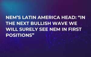 "NEM's Latin America Head: ""In the Next Bullish Wave We will Surely See NEM in First Positions"""