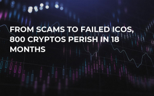 From Scams to Failed ICOs, 800 Cryptos Perish in 18 Months