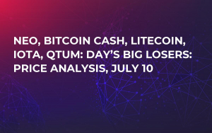 NEO, Bitcoin Cash, Litecoin, IOTA, QTUM: Day's Big Losers: Price Analysis, July 10