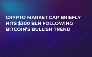 Crypto Market Cap Briefly Hits $300 Bln Following Bitcoin's Bullish Trend