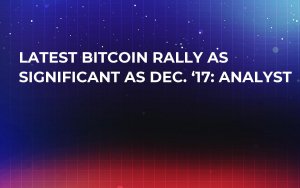 Latest Bitcoin Rally as Significant as Dec. '17: Analyst