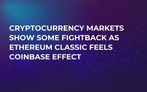Cryptocurrency Markets Show Some Fightback as Ethereum Classic Feels Coinbase Effect