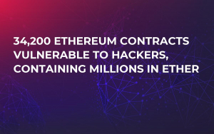 34,200 Ethereum Contracts Vulnerable to Hackers, Containing Millions in Ether