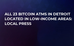 All 23 Bitcoin ATMs in Detroit Located in Low-Income Areas: Local Press