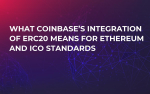 What Coinbase's Integration of ERC20 Means For Ethereum and ICO Standards
