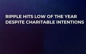Ripple Hits Low of the Year Despite Charitable Intentions