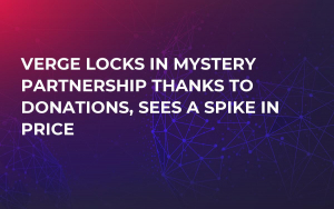 Verge Locks in Mystery Partnership Thanks to Donations, Sees a Spike in Price