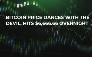 Bitcoin Price Dances With the Devil, Hits $6,666.66 Overnight