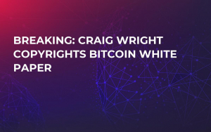 BREAKING: Craig Wright Copyrights Bitcoin White Paper