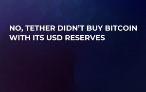 No, Tether Didn't Buy Bitcoin with Its USD Reserves