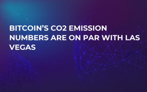 Bitcoin's CO2 Emission Numbers Are on Par with Las Vegas