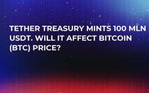 Tether Treasury Mints 100 Mln USDT. Will It Affect Bitcoin (BTC) Price?