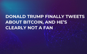 Donald Trump Finally Tweets About Bitcoin, and He's Clearly Not a Fan