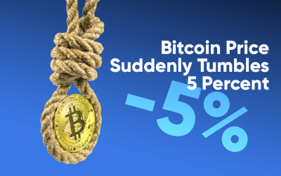 Bitcoin Price Suddenly Tumbles 5 Percent as Hash Rate Reaches New Highs