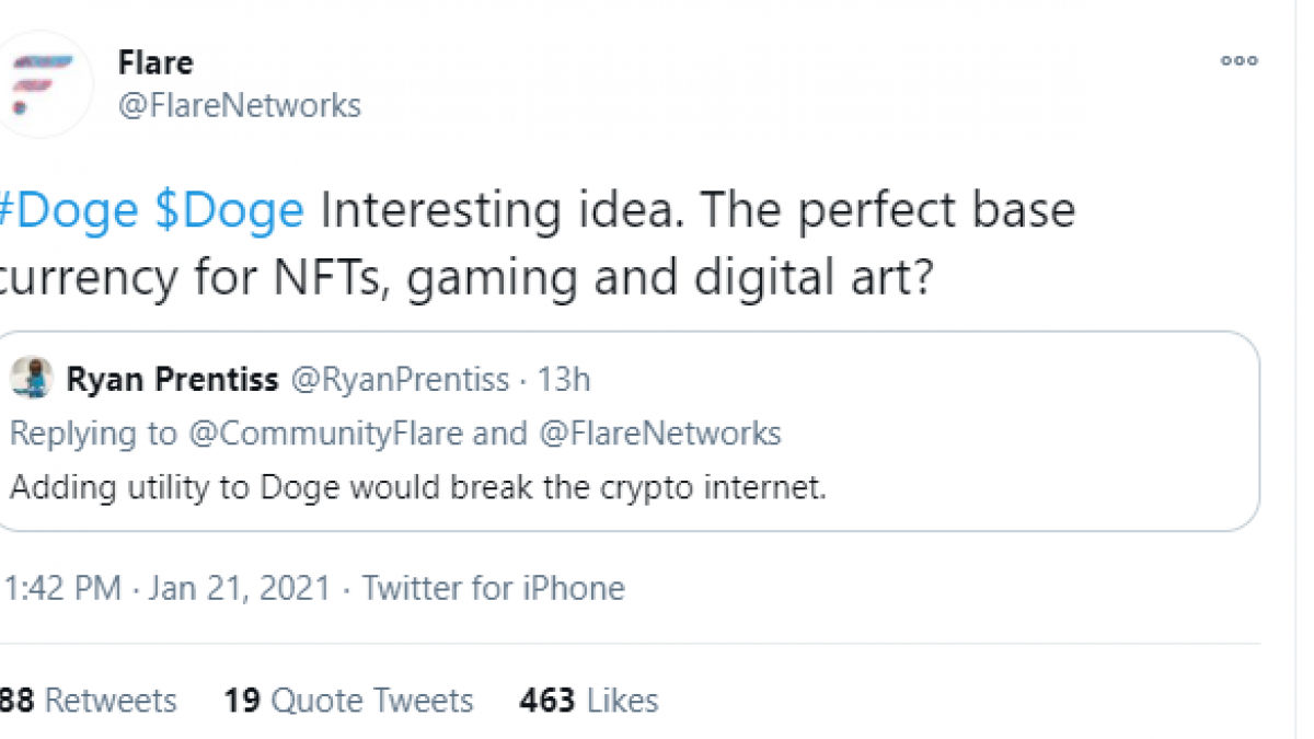 Flare Networks team considers adding DOGE as F-asset