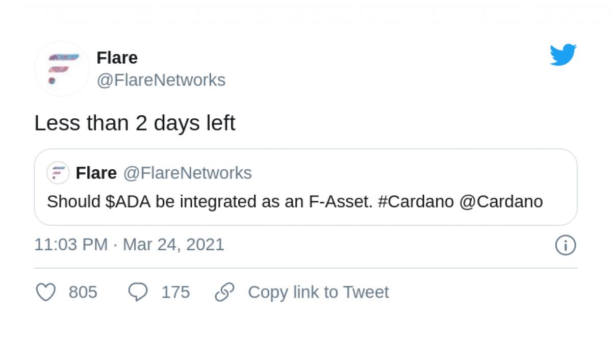 FLR followers welcome Cardano (ADA) integration
