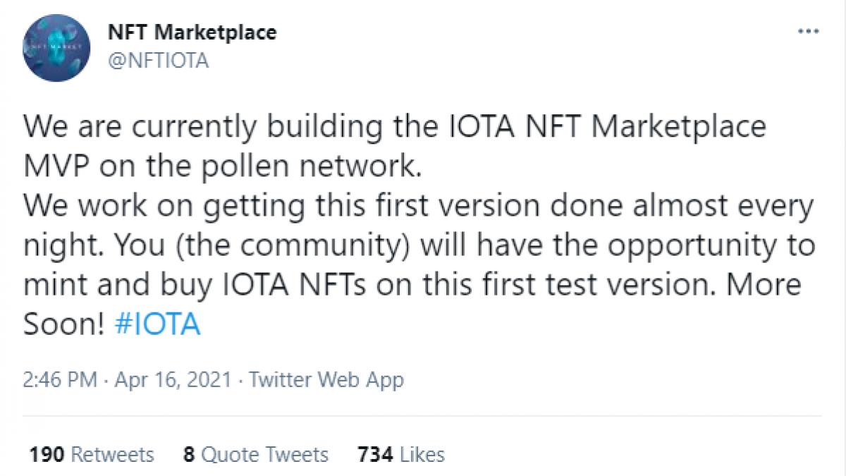 IOTA NFT marketplace will launch soon