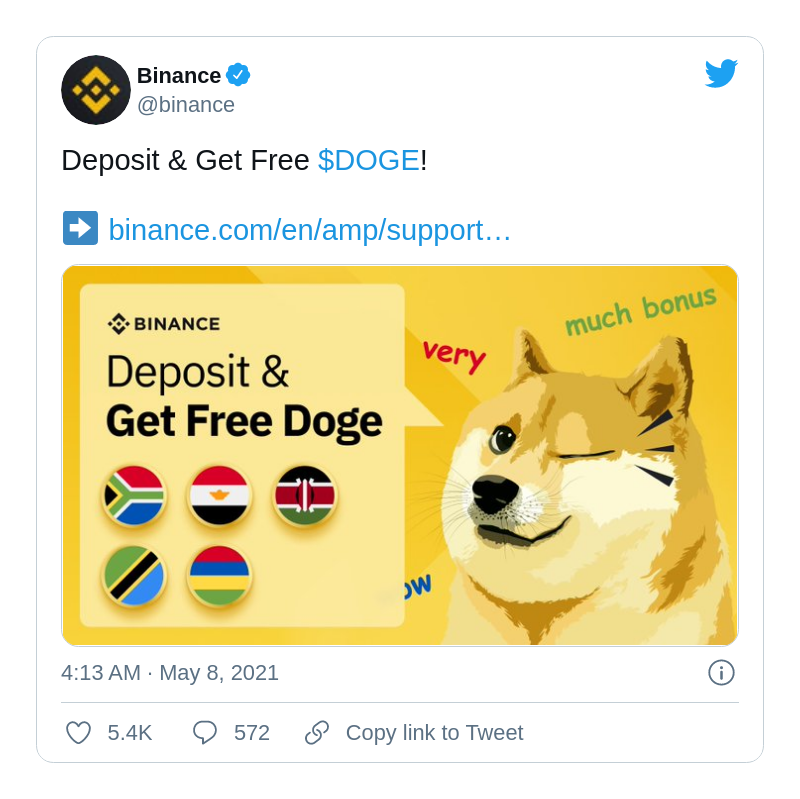 Binance launches unusual DOGE promotion
