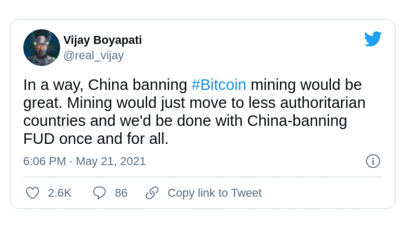 Bitcoin (BTC) moving out of China may be good for its progress