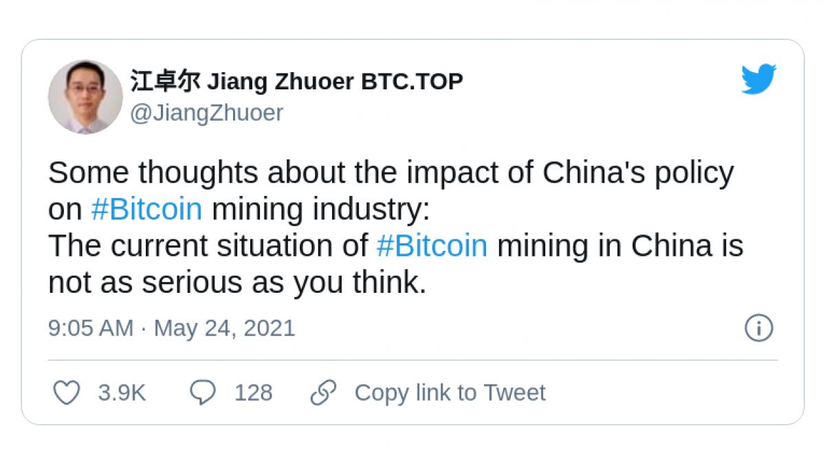 CEO of BTC.TOP dismisses China FUD