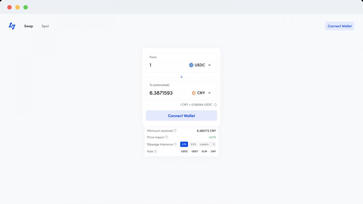 Lumenswap easy interface