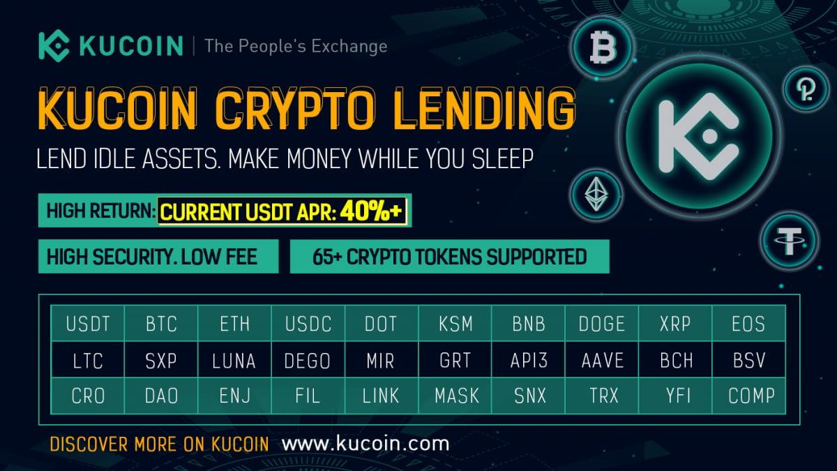 KuCoin Lend is a top-notch lending/borrowing ecosystem