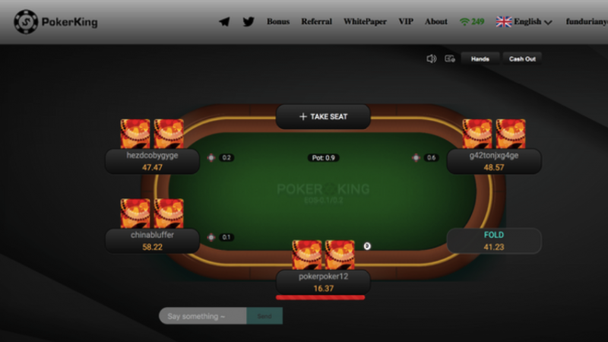Hold'em PokerKing interface