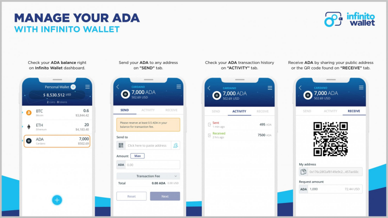 Infinito mobile app interface