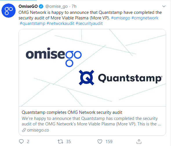 Quantstamp conducted the OmiseGo security audit