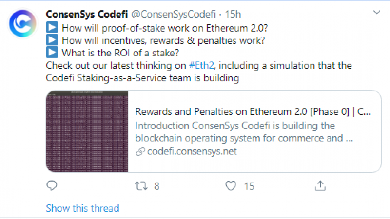 ConsenSys calculations on ETH2 tokenomics