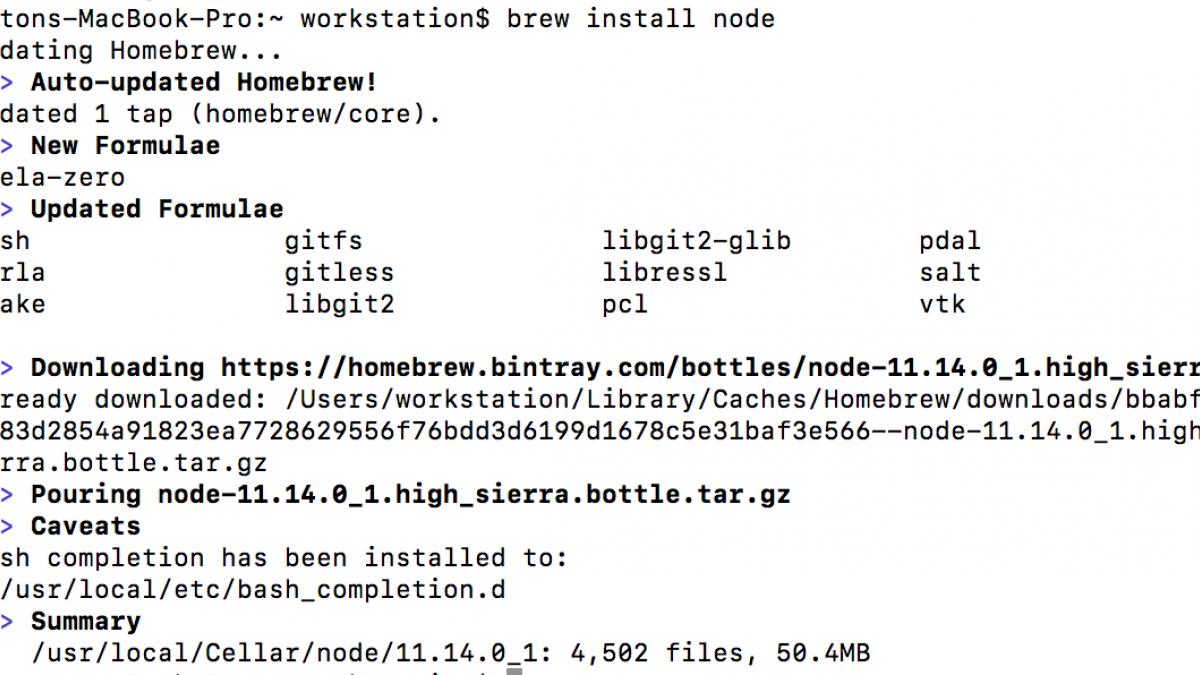 Installing Node.js.