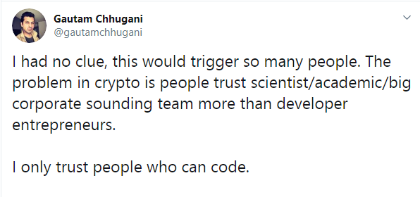 People trust sound team more than developers