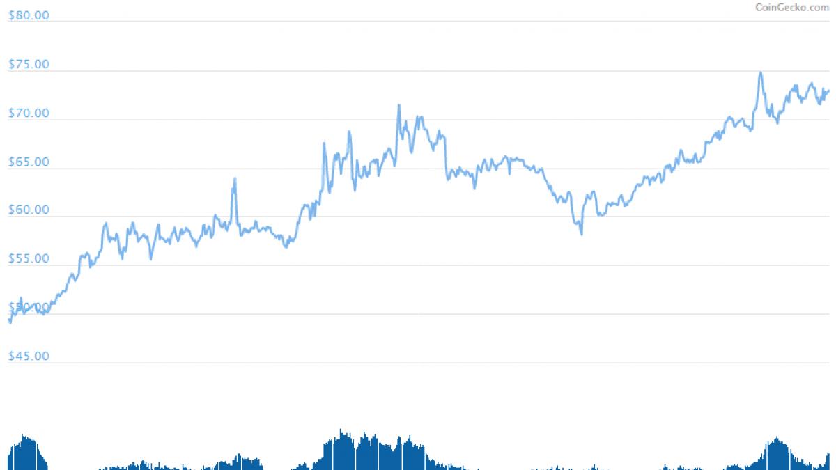 Monero (XMR) Price Surged 50% in a Month