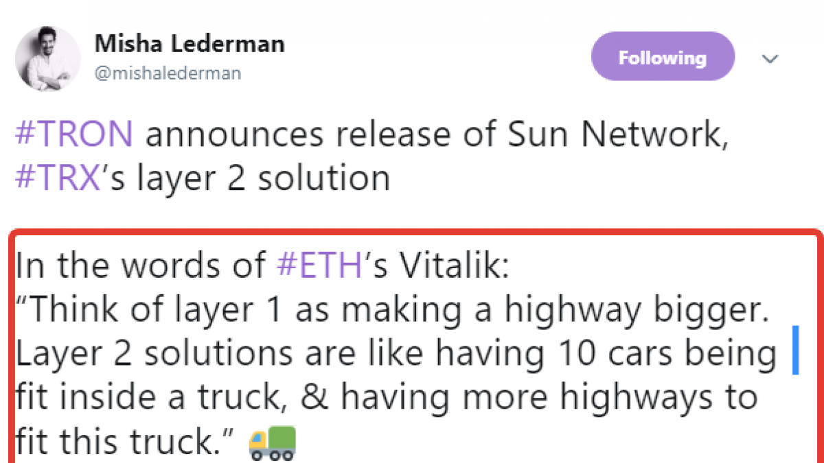 Justin Sun Promises to Release Sun Network Soon – Tron's Layer 2 Solution for 100% Scalability