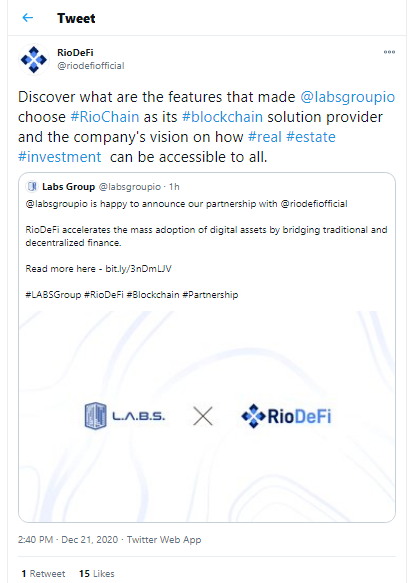 Labs Group partners RioDeFi