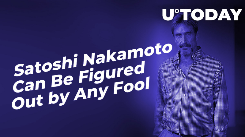 Satoshi Nakamoto Can Be Figured Out by Any Fool, Says IRS-Chased John McAfee