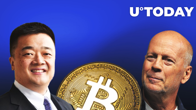 BTC China's CEO Bobby Lee Gives Bitcoin to Bruce Willis as He Bumps into Hollywood Star on Plane