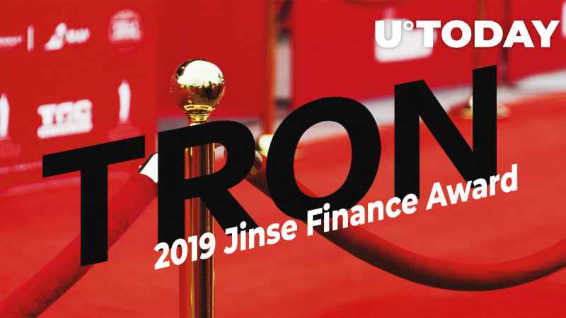 Tron Receives 2019 Jinse Finance Award as Most Innovative Blockchain