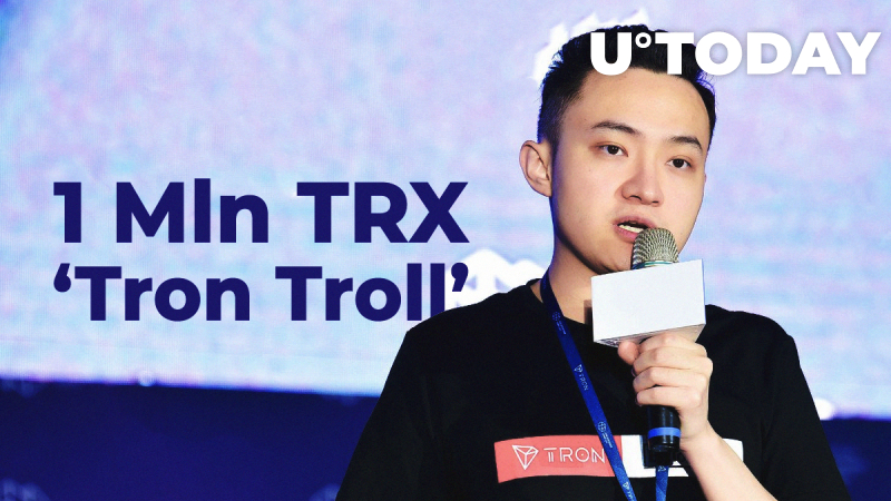 Justin Sun to Pay 1 Mln TRX to Major Bitcoiner 'Tron Troll', Ethereum Allegedly Does the Same