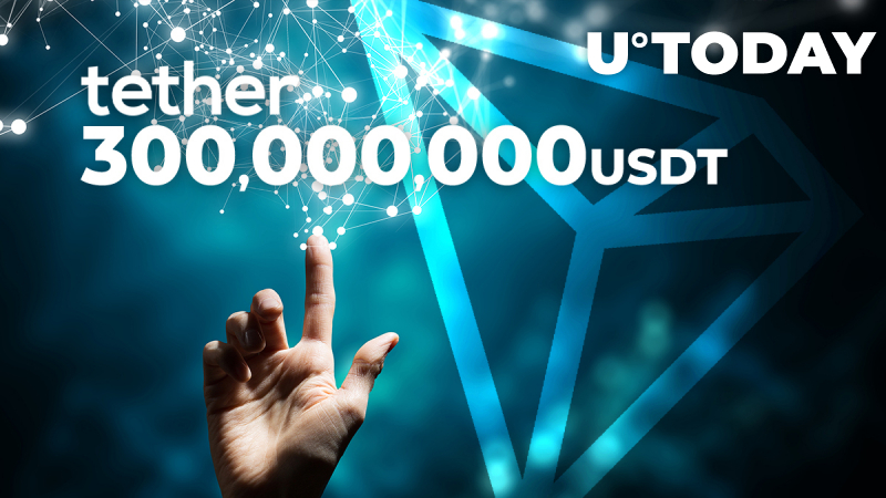 Tether Mints 300,000,000 USDT for Tron as Tron-USDT Circulating Amount Exceeds 3.4 Bln